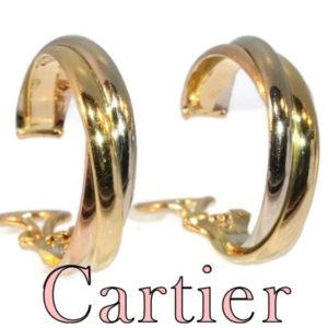 Vintage Cartier Trinity Tri-Colour Gold Ear Clips