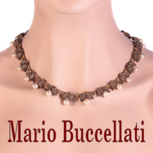 Vintage Fifties Mario Buccellati Gold and Silver Pearl Grape Necklace