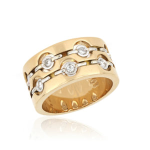 Diamond Set Ring in 18ct Yellow and White Gold