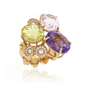 Multi Gem Set Ring in 18ct Yellow Gold