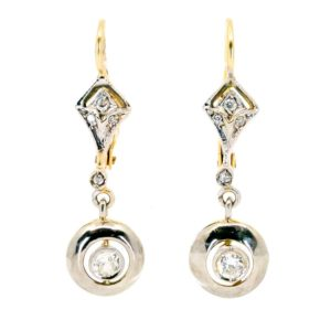 Antique Art Deco Diamond Drop Earrings