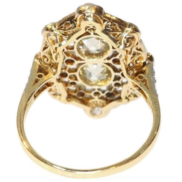 Antique Belle Époque Natural Fancy Colour Diamond Ring
