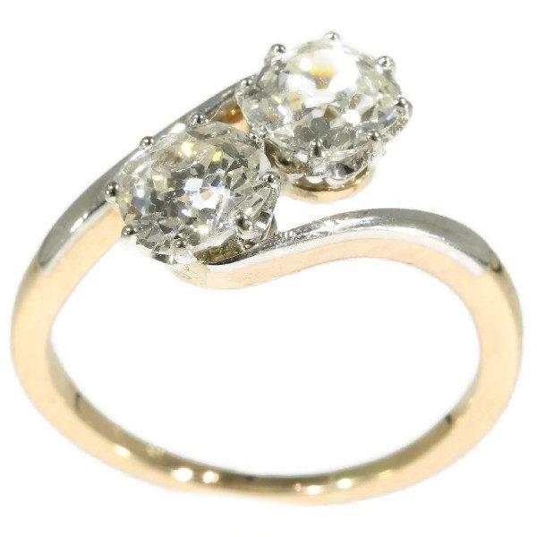 Antique Belle Epoque Two Stone Diamond Ring