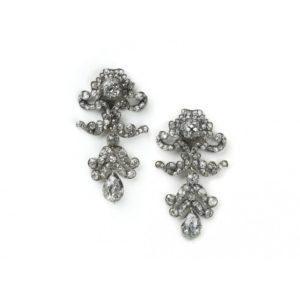 Antique Victorian Diamond Drop Earrings, Circa 1860