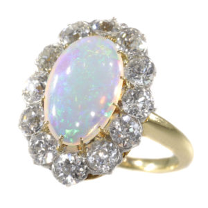 Antique Victorian Opal Diamond Conversion Ring and Pendant
