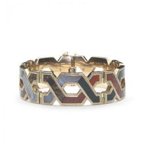 Antique Victorian Scottish Agate Gold Bracelet