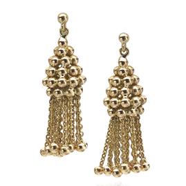 Beaded Tassel 18ct Yellow Gold Earrings