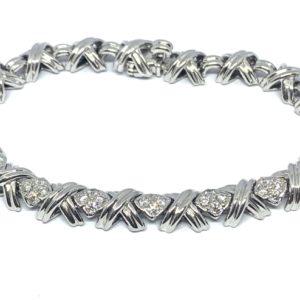 tiffany signature bracelet diamond