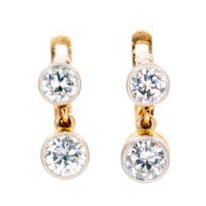 Antique Art Deco 1ct Diamond Earrings