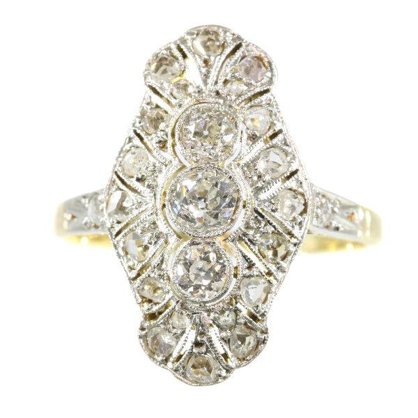 Antique Art Deco Old Brilliant Cut Diamond Ring