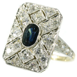 Antique Art Deco Sapphire Diamond Ring