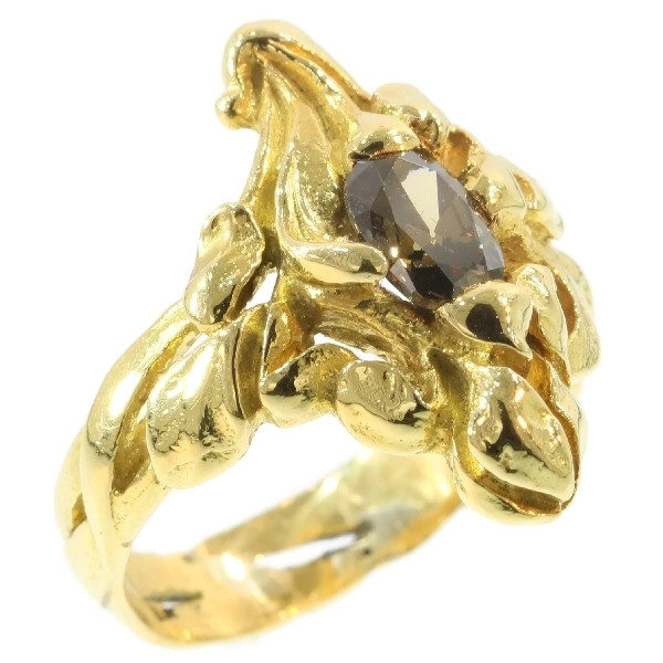 Antique Art Nouveau Diamond Flower Ring