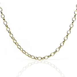 Belcher Link 18ct Gold Necklace