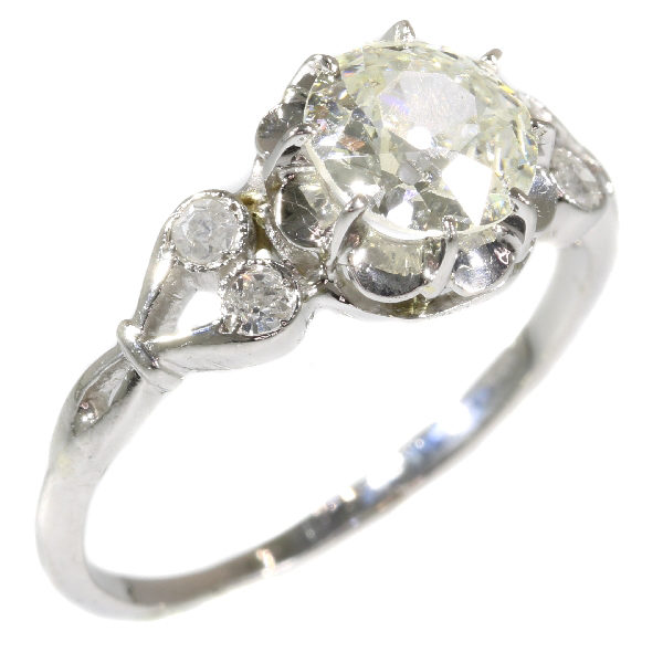 Belle Époque Style Old Brilliant Cut Diamond Ring