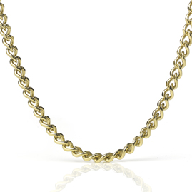 Curb Link 18ct Gold Necklace