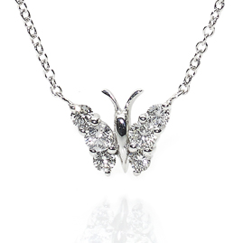 Diamond Set Butterfly Pendant