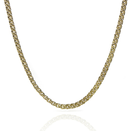 Fancy Double Curb Link 18ct Gold Chain