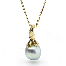 Pearl Drop 18ct Gold Pendant