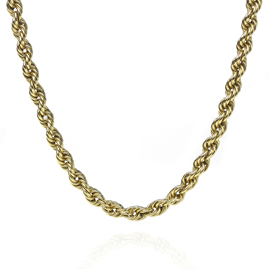 Rope Twist 18ct Gold Chain Necklace