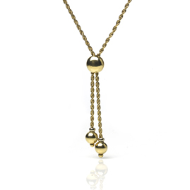 Rope Twist 18ct Gold Chain With Slider
