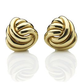 Three Strand Knot 18ct Gold Earrings