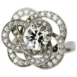 Chanel Fil de Camélia Diamond Ring in 18ct White Gold