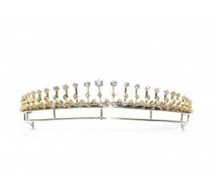 Antique Victorian Diamond Fringe Tiara Necklace, 12.00 carats, Circa 1880