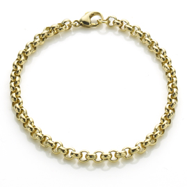 Belcher Link Gold Bracelet