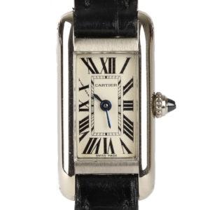 Cartier Allongee 14mm 18ct White Gold Quartz Ladies Watch