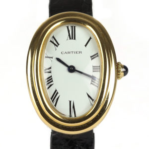 Cartier Baignoire 18ct Yellow Gold Ladies Watch