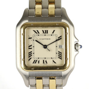 Cartier Panthere Steel and Gold Jumbo Size Gents Watch
