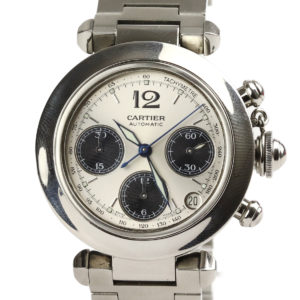 Cartier Pasha Chronograph Silver Dial Unisex Watch 36mm