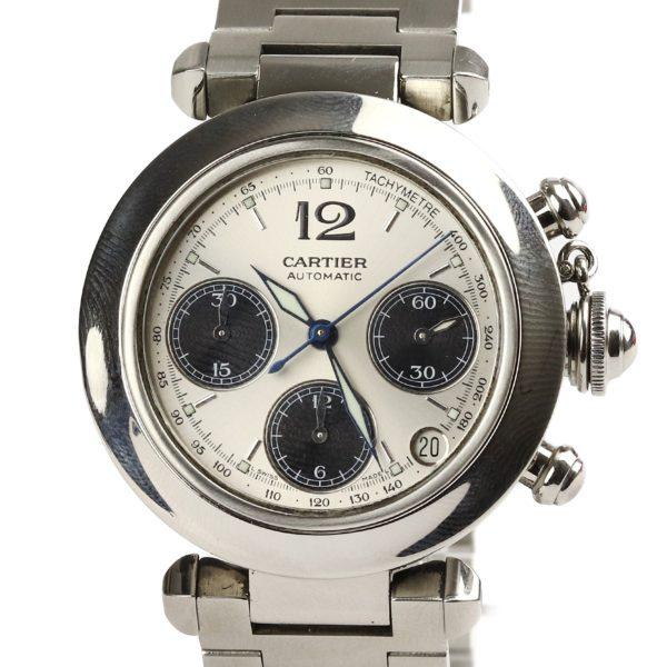 Cartier-Pasha-Chronograph-Silver-Dial-Un