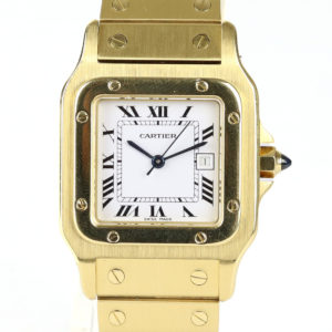 Cartier Santos 18ct Yellow Gold 29mm Automatic Gents Watch