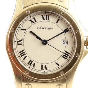 Cartier Santos Ronde 18ct Gold Gents Watch