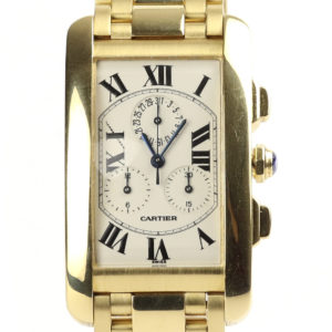 Cartier Tank Americaine Chronograph 18ct Yellow Gold Gents Watch