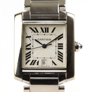 Cartier Tank Francaise 18ct White Gold Gents Watch 28mm