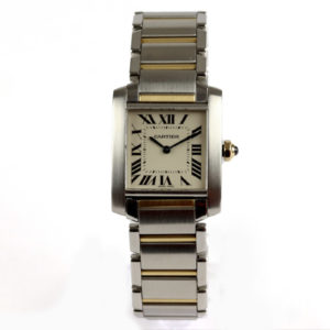 Cartier Tank Francaise Steel & Gold Midsize Watch Ref 2301