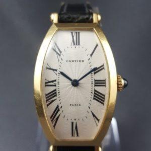Cartier Tonneau Ladies 18ct Yellow Gold Manual Watch