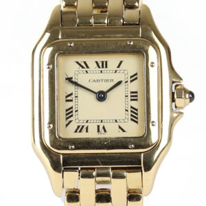Ladies Cartier Panthere Small Size 18ct Gold Watch 22mm