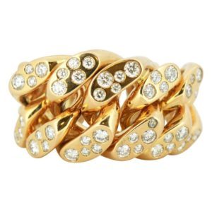 Monica Bonvicini 18ct Gold Limited Edition Ring with Diamonds