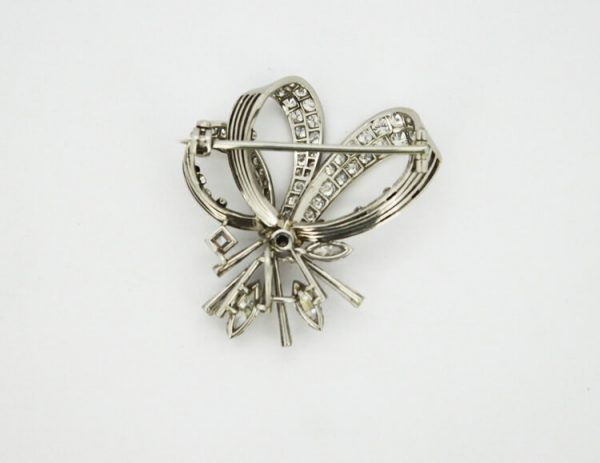 Vintage Cartier 7.67ct Diamond Brooch Pendant in 18ct White Gold