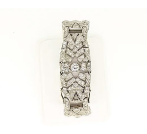 Art Deco Diamond Bracelet, 16.00 carat total