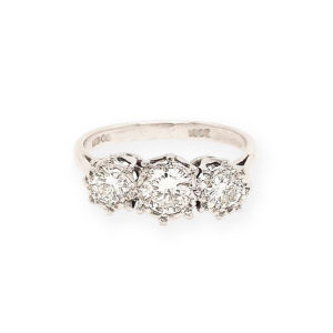 Diamond 0.40 carat Three-Stone Ring in 18ct White Gold