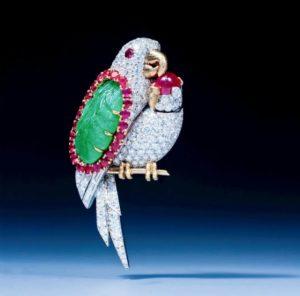 Epoque Fine Jewels A Bird Brooch by Cartier TEFAF Maastricht 2020