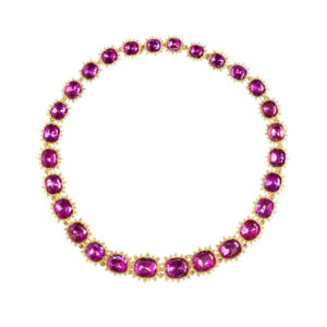 Antique Georgian Amethyst Riviere Necklace in 18ct Yellow Gold