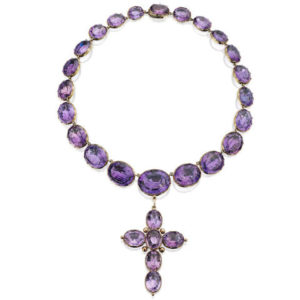 Amethyst riviere necklace antqiue 19th century Victorian