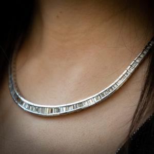 diamond line necklace