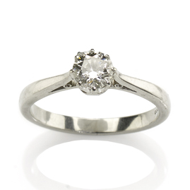 Diamond 0.50ct Single Stone Platinum Ring