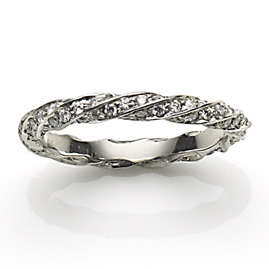 Diamond Platinum Twisted Eternity Ring